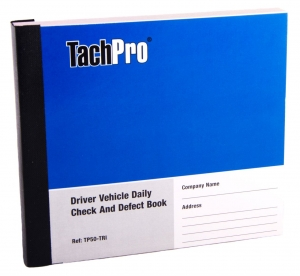 Daily Defect Book, Driver Vehicle Daily Check Defect Report Book, Tachpro defect book, vehicle defect report book, defect book, walk round report check sheet, pre journey walk round check