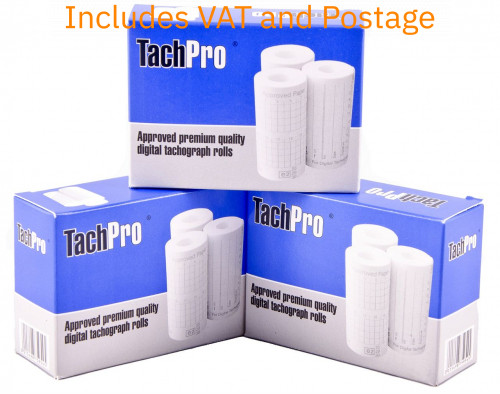 Digital tachograph printer rolls