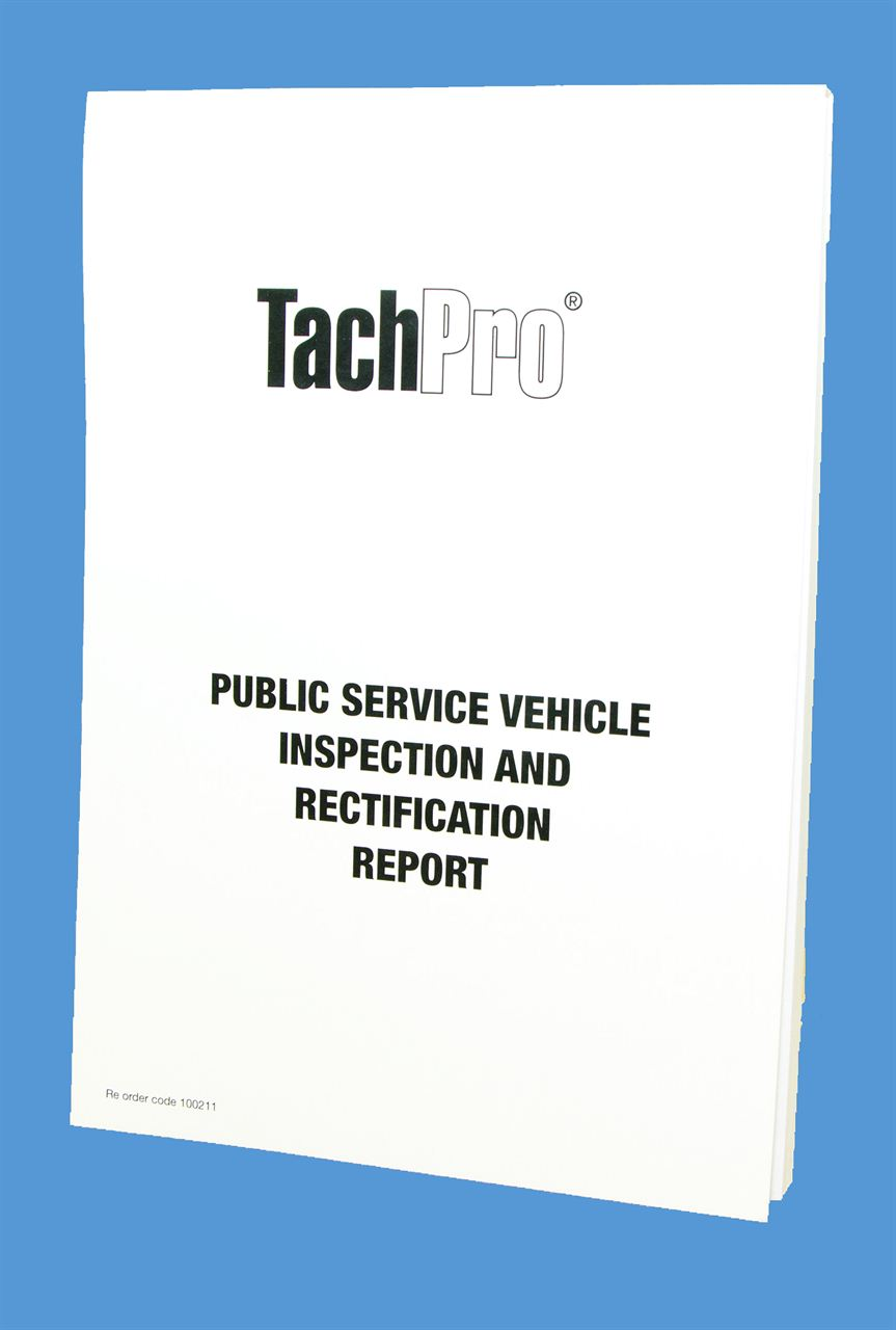 public service vehicle inspection and rectification report