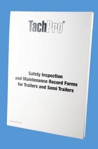 trailer safety inspection maintenance pad, HGV Trailer Safety Inspection Report, LGV Semi Trailer Inspection Report Pad