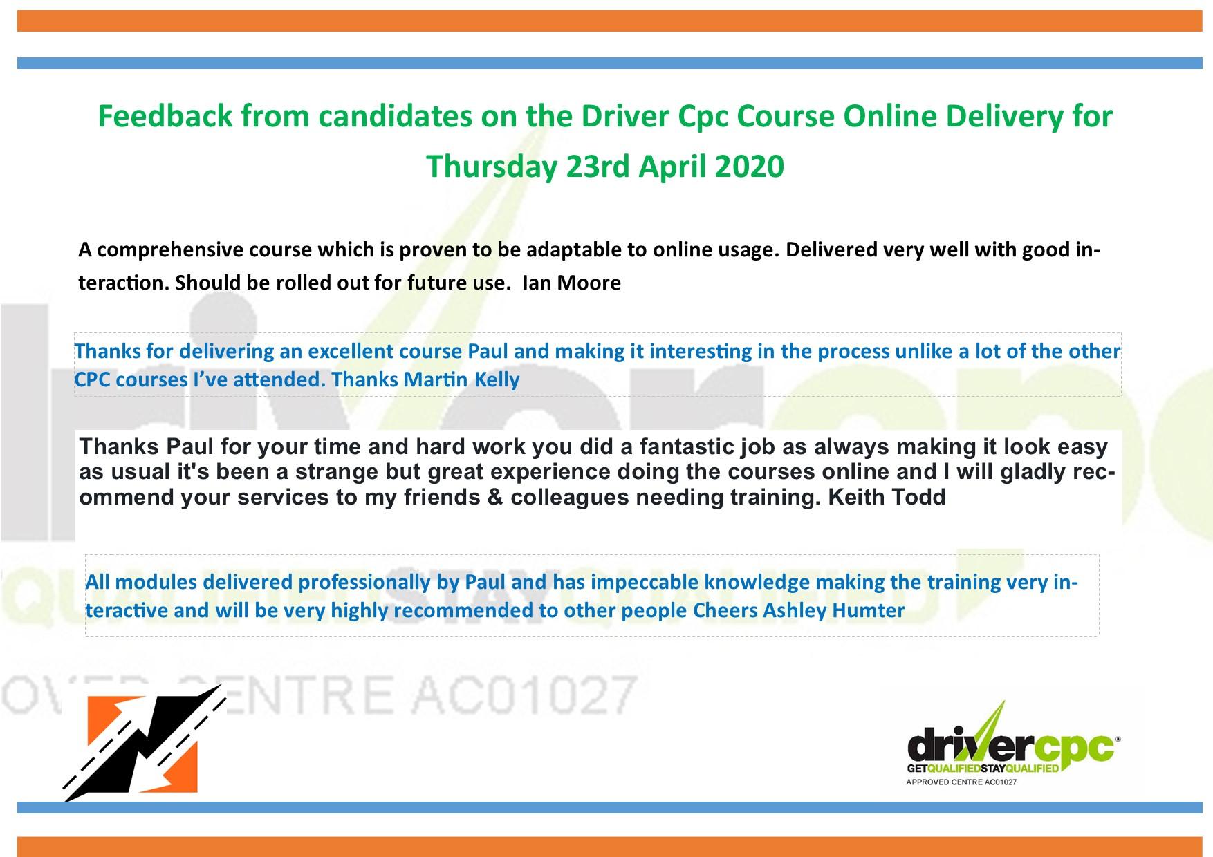 Online Driver Cpc Course