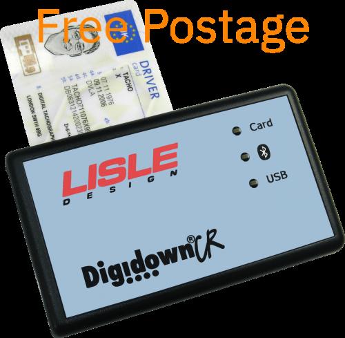 Digidown CR Tachograph Driiver Card Reader