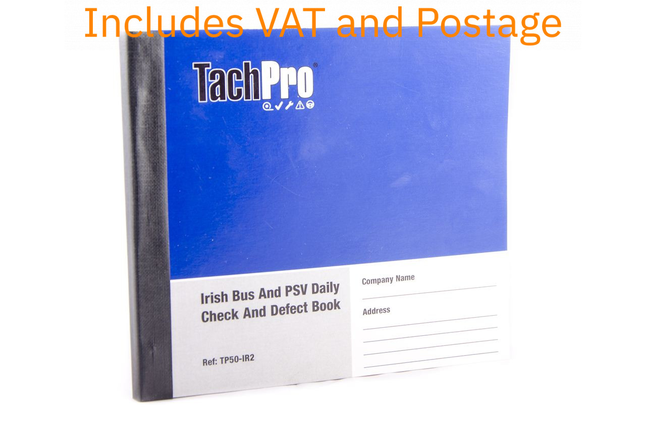 Irish PSV PCV Minibus Daily Defect Walk Round Check Book